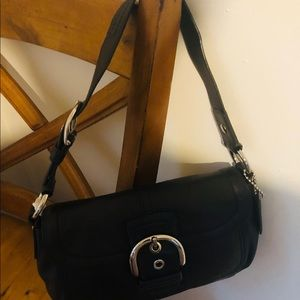 Bags - Authentic black hobo coach leather purse